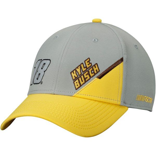 0b30ece9c40d5d Kyle Busch Gray Name & Number Adjustable Hat in 2019   20_Cap Trend ...