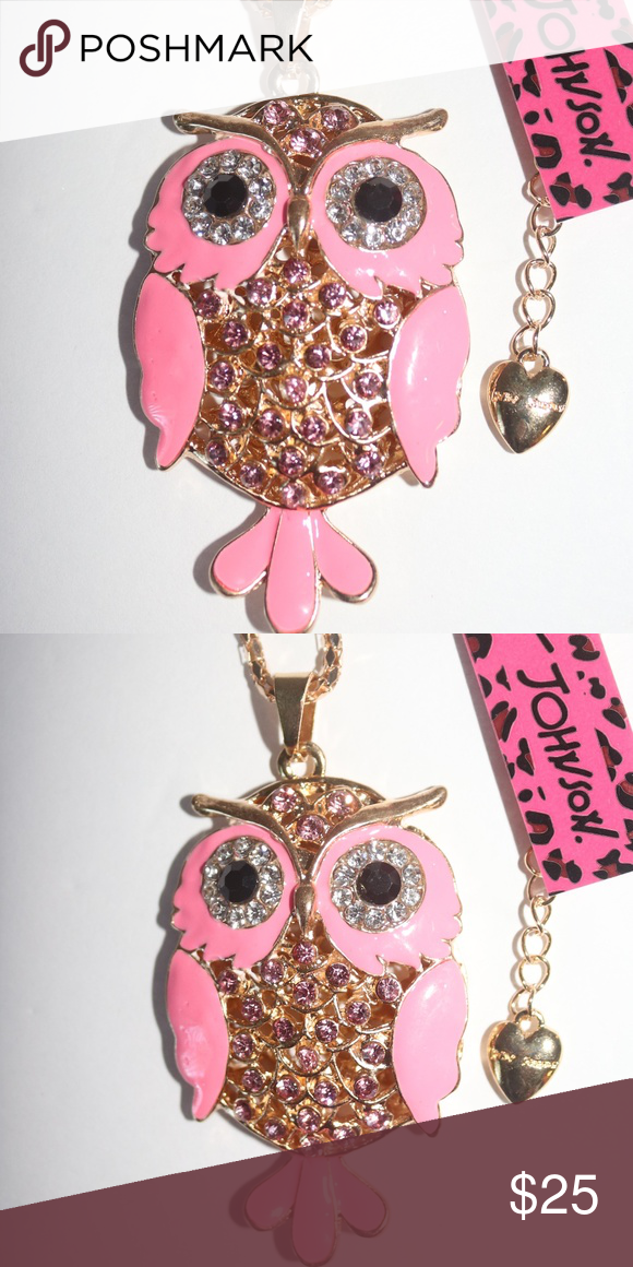 New Betsey Johnson owl necklace New Betsey Johnson owl necklace Betsey Johnson Jewelry