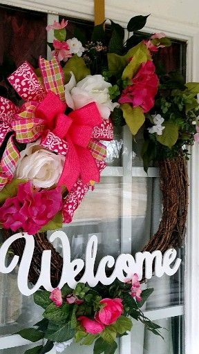 Photo of Spring wreath, Mother's Day wreath, wreath for the front door