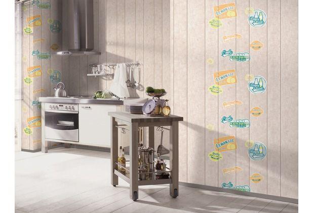 tolle tapete für die küche! moderne holzoptik wird