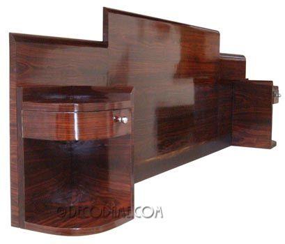 The Coolest Darn Deco Bed Ever Love Art Deco Furniture