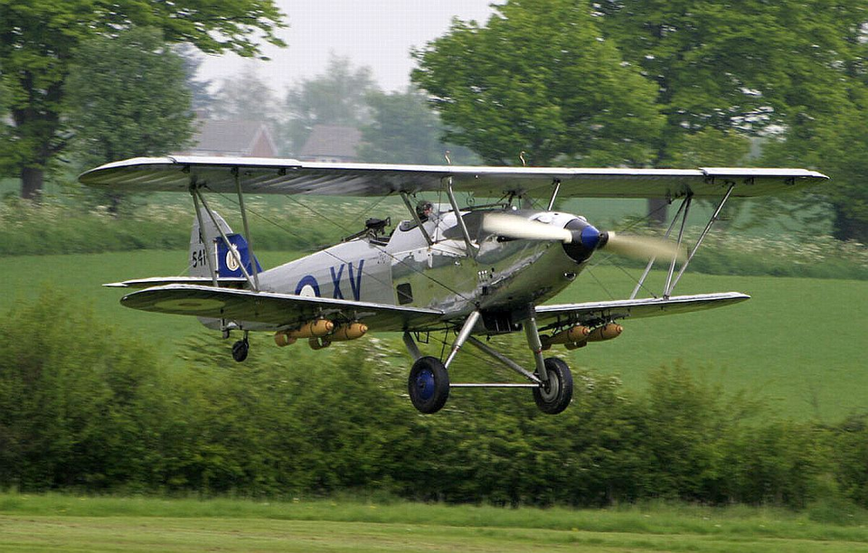 Preserved Hawker Hind Wwii aircraft, The blenheim