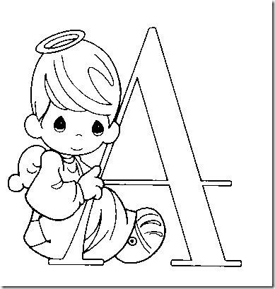 Alphabet Precious Moments Coloring pages   Desenhos   Pinterest ...