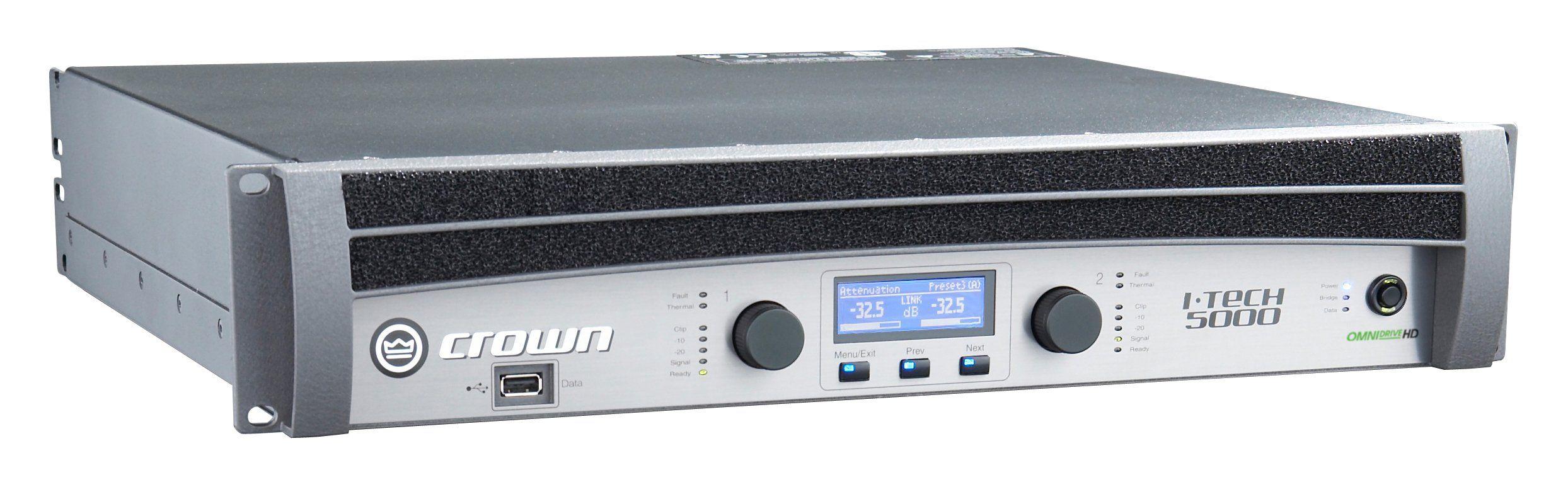 crown it5000hd power amplifier dj mix club amplifiers