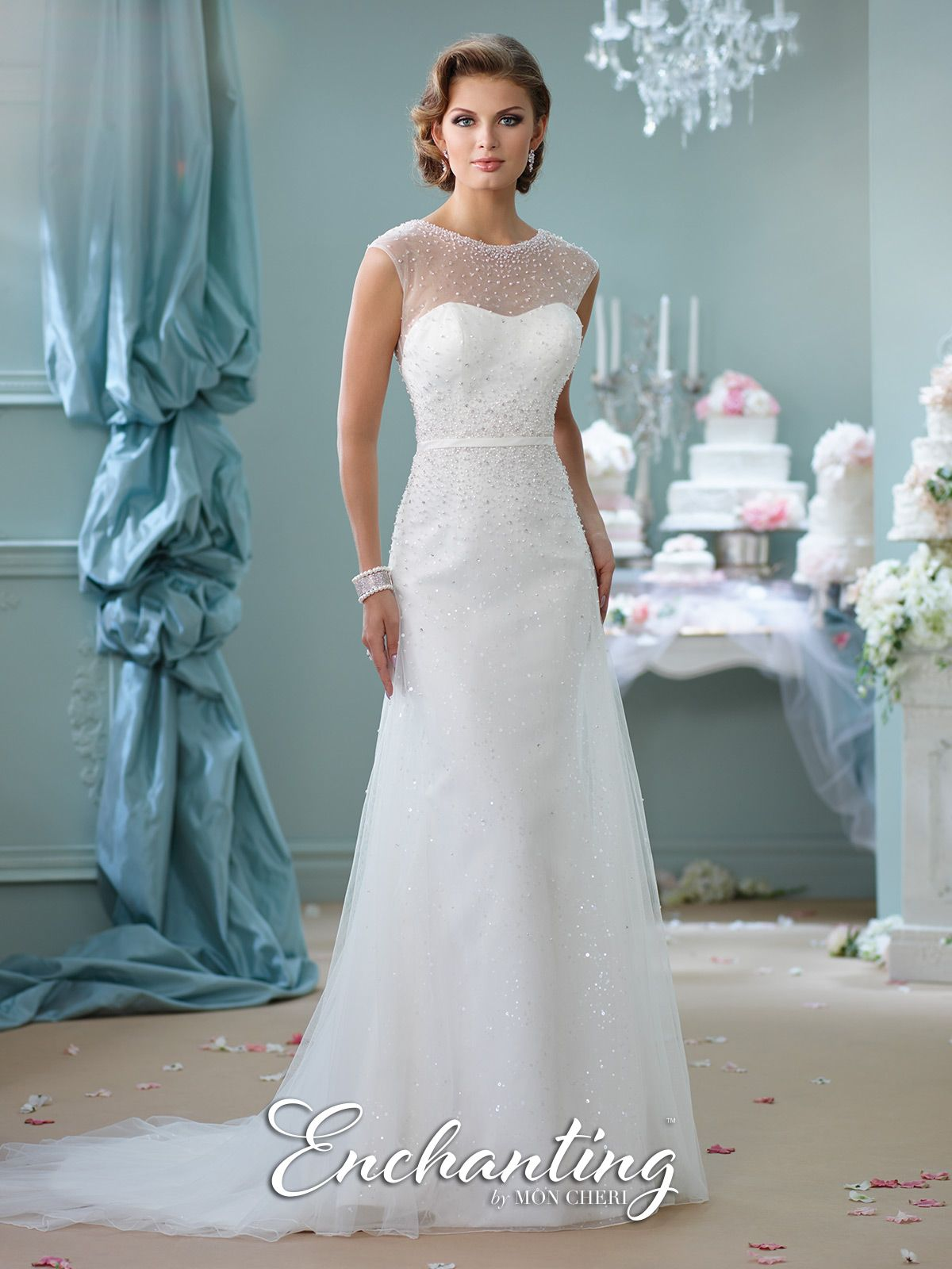 Modern Wedding Dresses 2018 by Mon Cheri | Ivory white, Gowns and ...