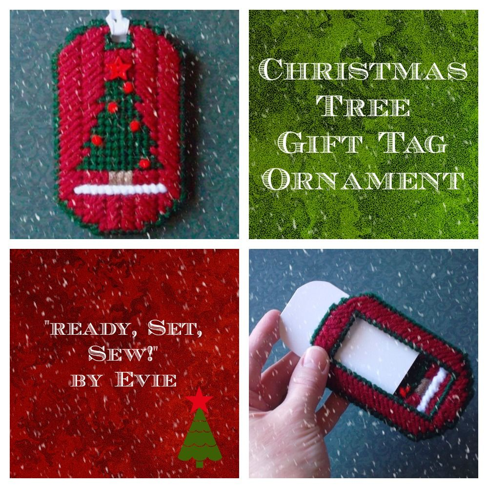 "RESERVED for Sandy!!! Plastic Canvas: 5 ""Christmas Tree"" Gift Tag Ornaments…"