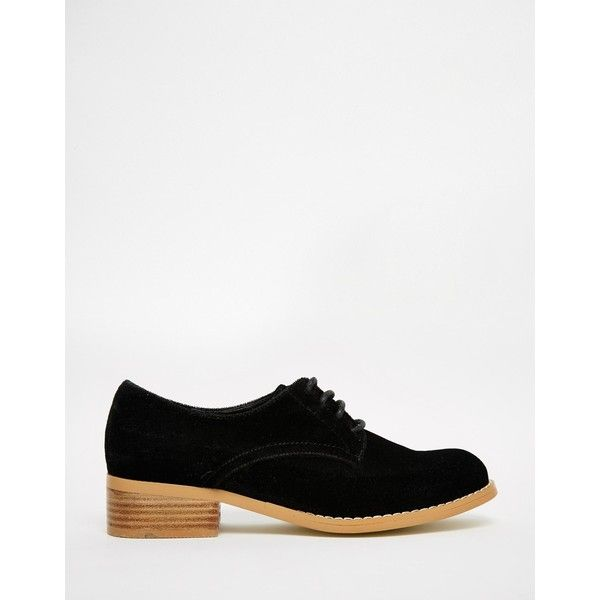 ASOS MAGIC Velvet Brogues (28.690 CRC) ❤ liked on Polyvore featuring shoes, oxfords, wingtip oxford, lace up oxfords, wingtip shoes, brogue oxford y laced shoes