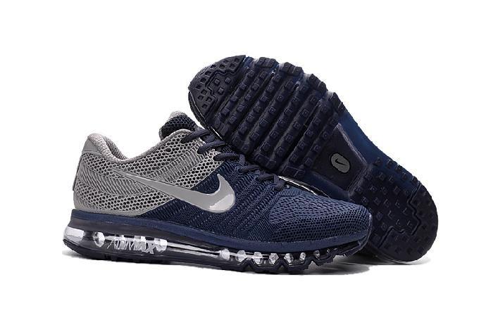 online store b89d5 6340f Nike Air Max 2017 Grey Deep Blue Running Shoes(40-46)