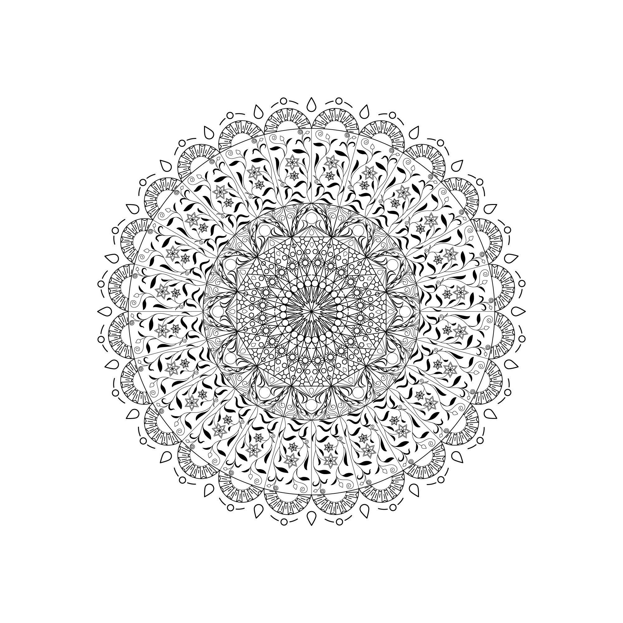 Malvorlagen kirschen pictures to pin on pinterest - Kostenlose Mandalavorlagen Herunterladen Mandala Vorlage Ausmalbilder Zeichnen
