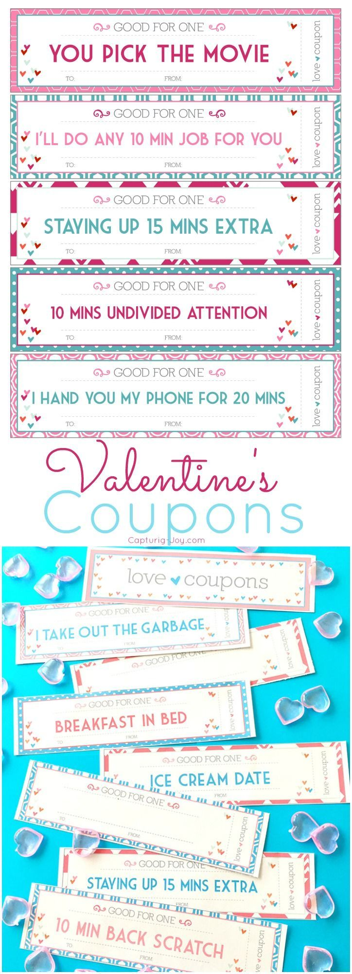Valentine\'s Day Coupons for kids - printable valentine coupons | DIY ...