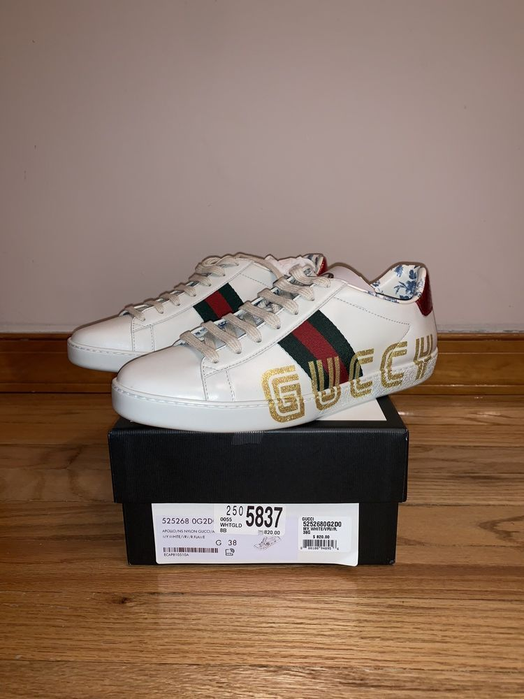Gucci Women's New Ace Guccy Leather