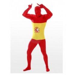 Comprar Disfraz bandera de España. Confeccionado en tejido elástico y  diseñado para llevar la cara cubierta sin perder la visión de nada en tu  fiesta ... 49c3e865551