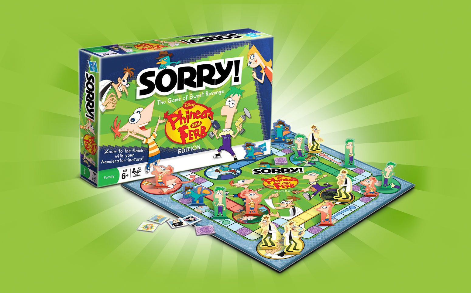 Disney Phineas and Ferb Sorry! board game Disney games