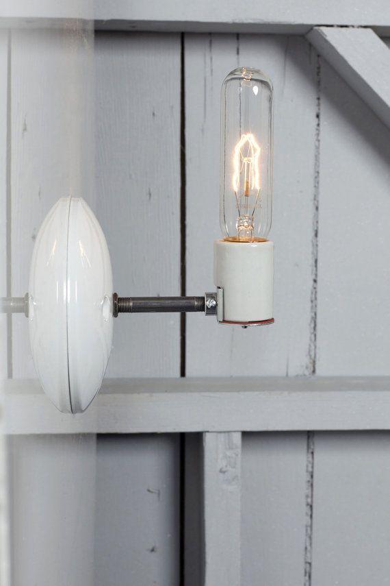 Industrial Lighting Wall Sconce Bare Bulb Light By Indlights 35 00 Industrial Wall Sconce Industrial Wall Lights