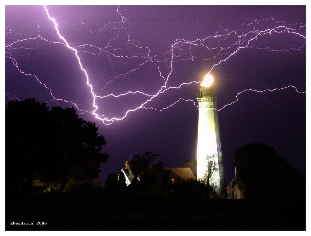 Lightning And Lighthouses by scissorxscissor