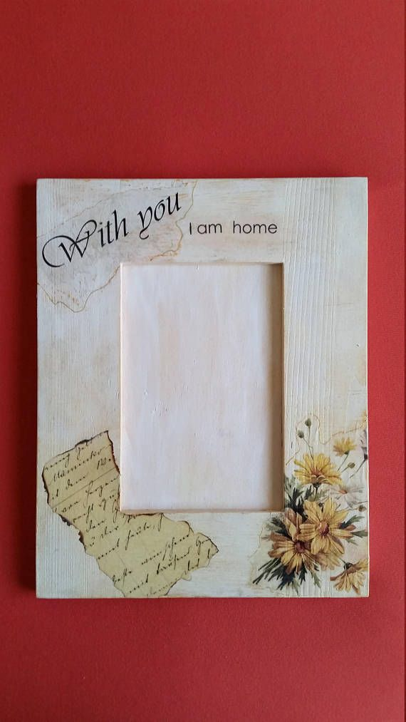 With you i am home frame, Floral yellow frame, Love quote frame ...