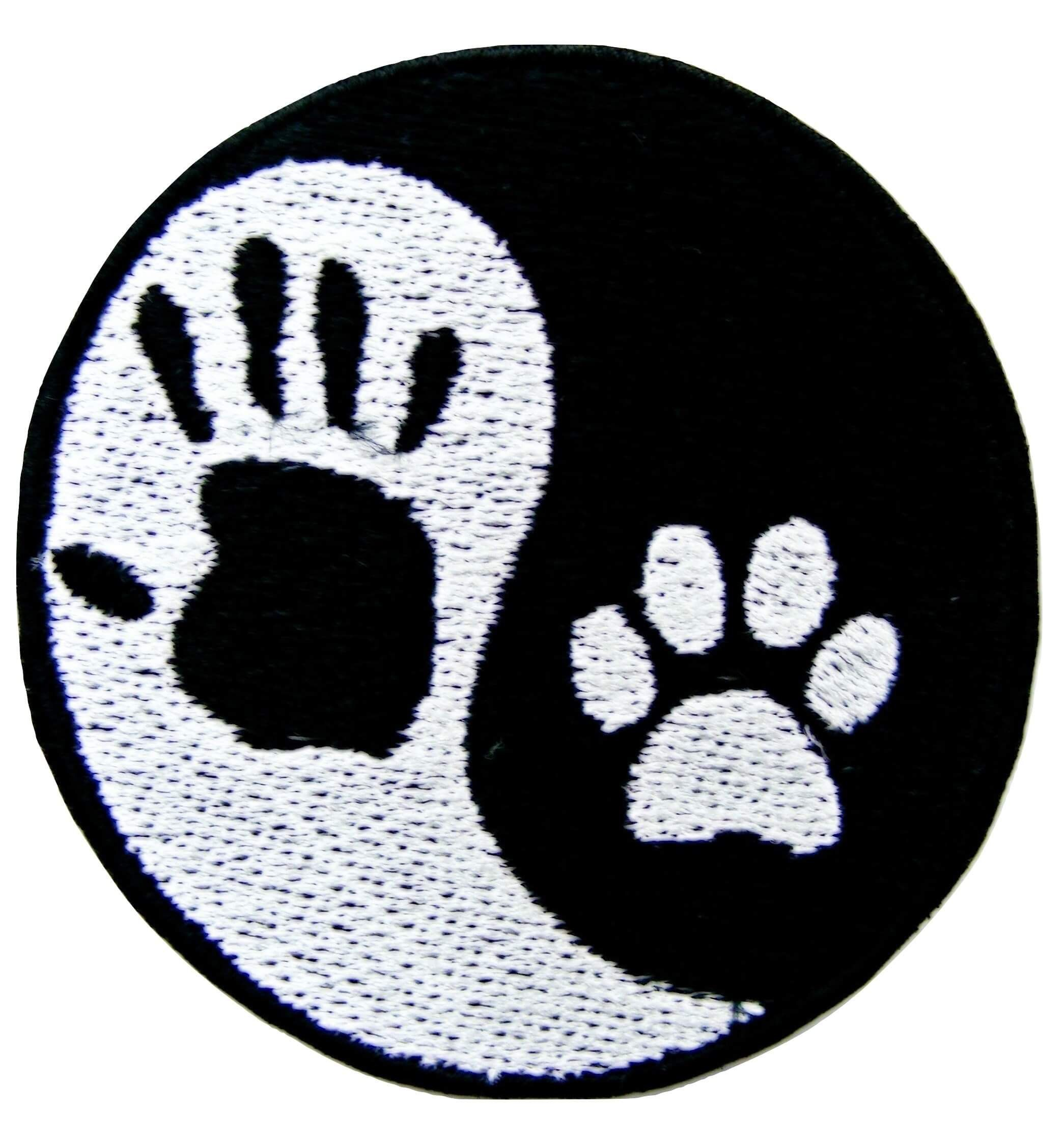 Premium Quality Lot of 4 Purple White Dog Animal Paw Print Embroidery Patch
