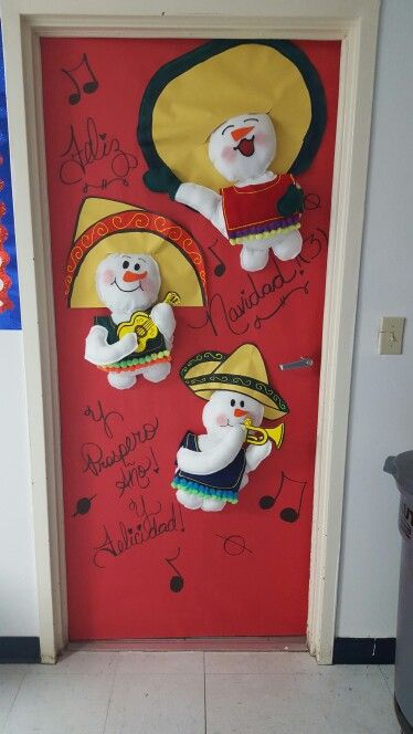 Door decoration christmas around the world (Mexico ...