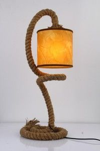 Vig Furniture Modrest Carrick Modern Rope Table Lamp