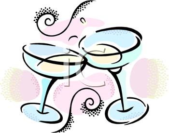 two glasses of champagne to celebrate new years day a toast to the new year new year clipart