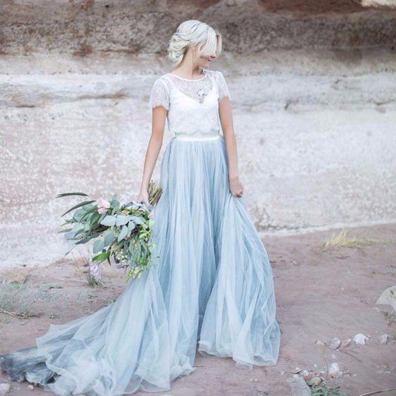 Ice Blue Tulle Skirt