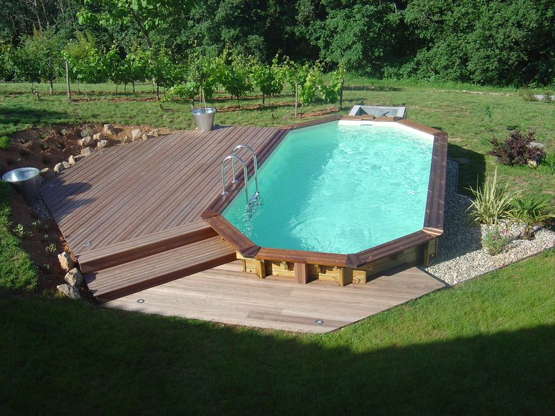piscine bois octogonale acheter une piscine avec structure en bois piscine pinterest. Black Bedroom Furniture Sets. Home Design Ideas
