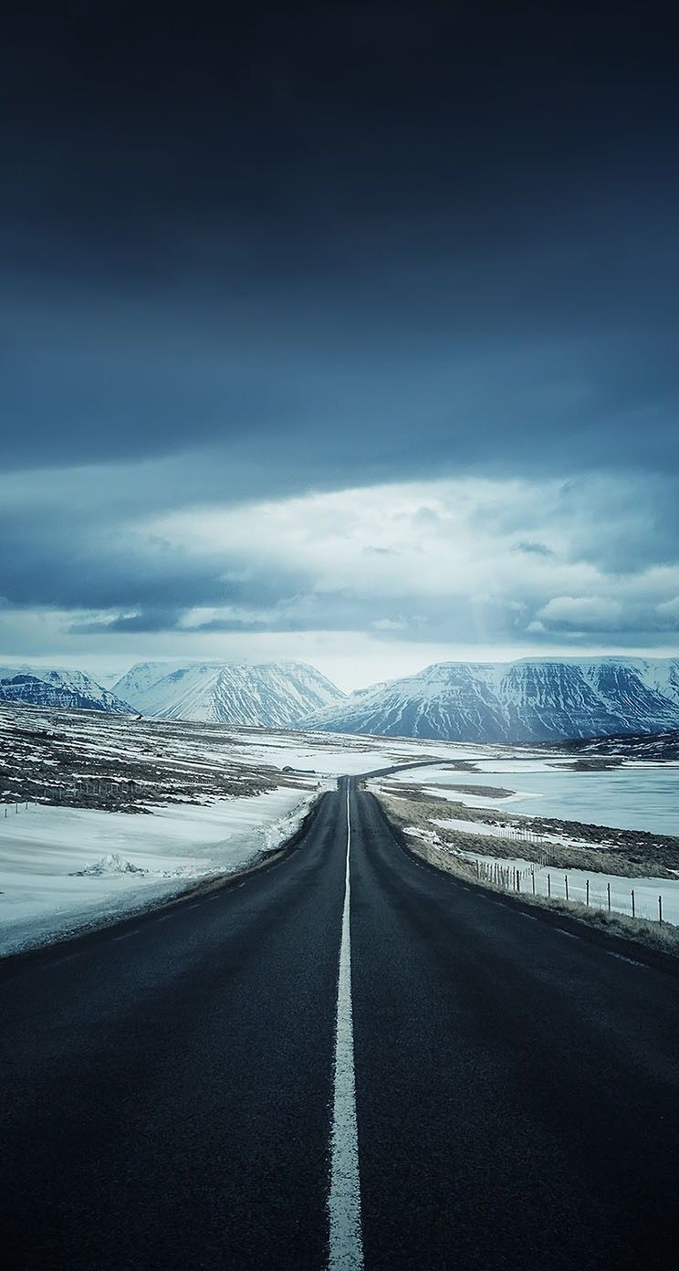 Road City Landscape Photography Wallpaper Phone Background Landscape Wallpaper Landscape Iceland Wallpaper