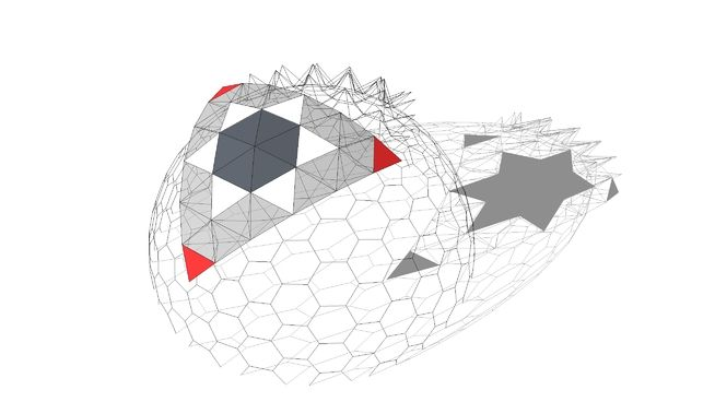 Large preview of 3D Model of BiMUp 5D - Geodesic Dome 6V Truss ...