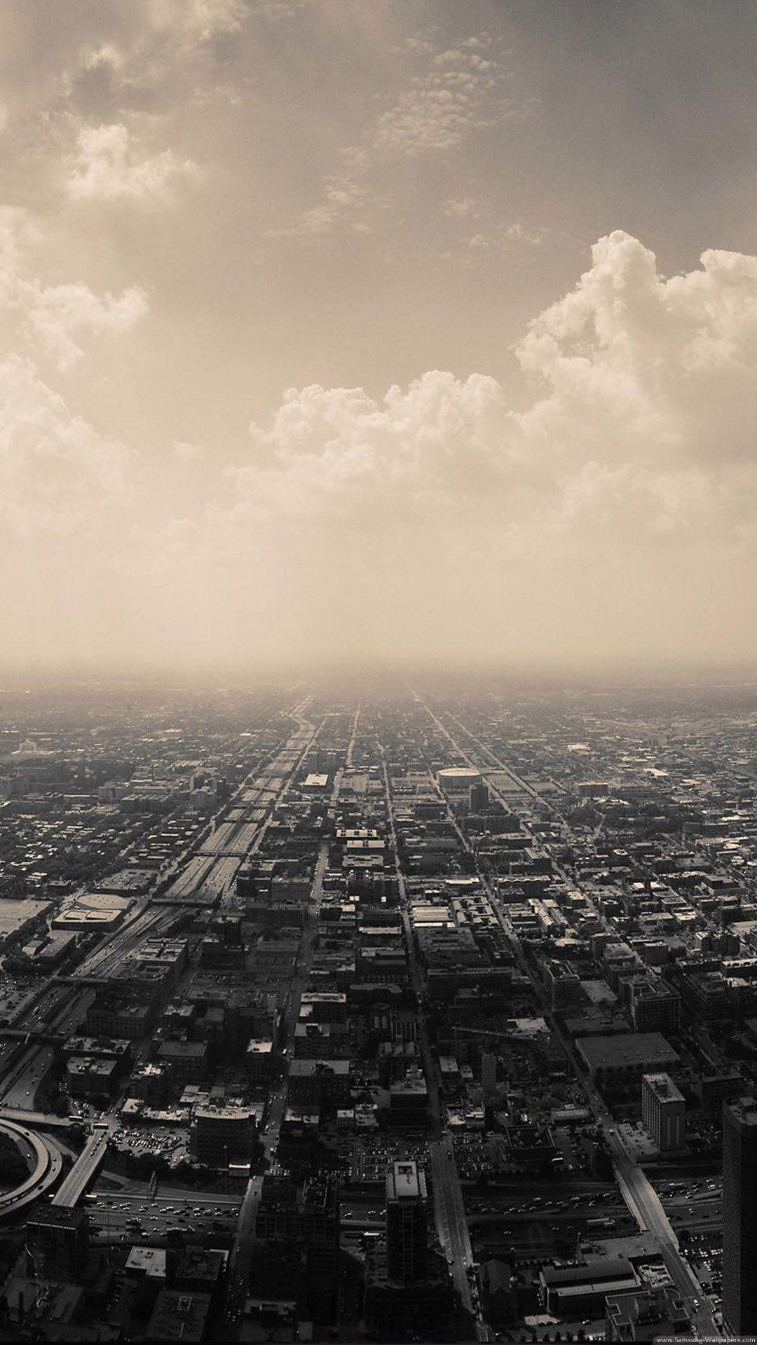 Hd wallpaper city - Gloomy City Skyline Iphone 6 Plus Hd Wallpaper