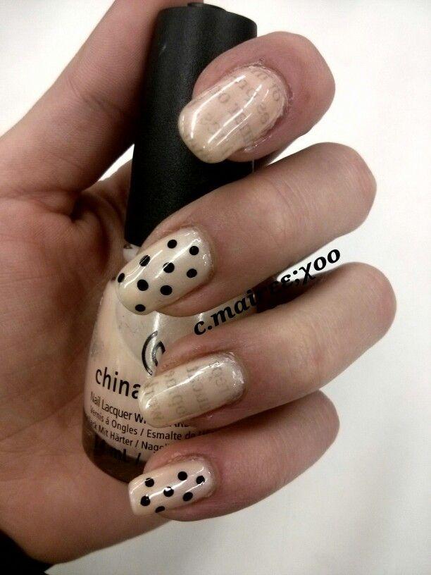 Newspaper Nail Art | Nails | Pinterest | Newspaper nail art and ...