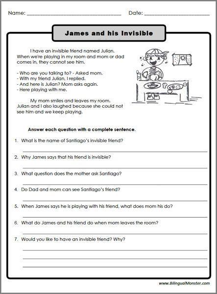 Reading Comprehension Worksheets For 3rd Grade Reading Comprehension Worksheets Reading Comprehension Strategies Comprehension Worksheets