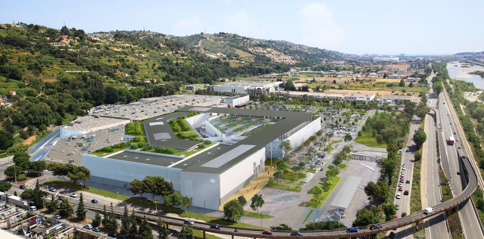 06.11.2018: extension du centre commercial Carrefour Nice Lingostière :