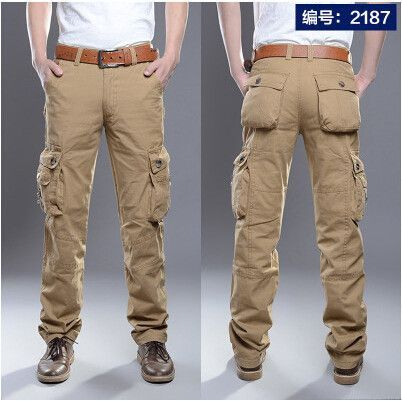 Trousers Summer Clothing of Cotton Men s Classic Joggers Pants Black Khaki  Pants c925016d1b1