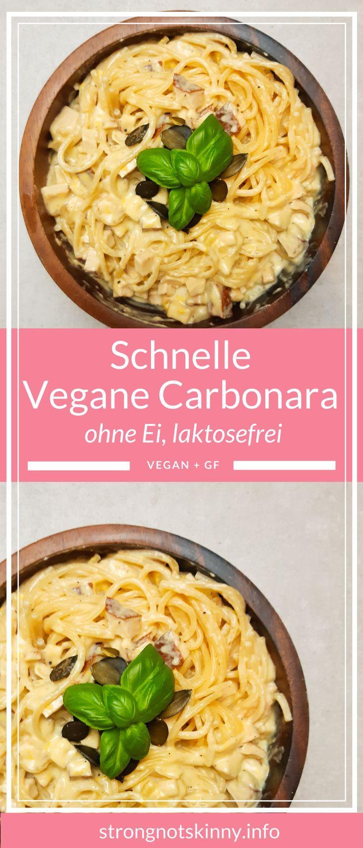 Schnelle vegane Carbonara herzhaftes Rezept Abendessen