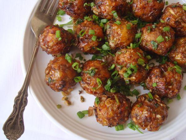 Vegetable Manchurian Recipe Chinese appetizers, Gobi