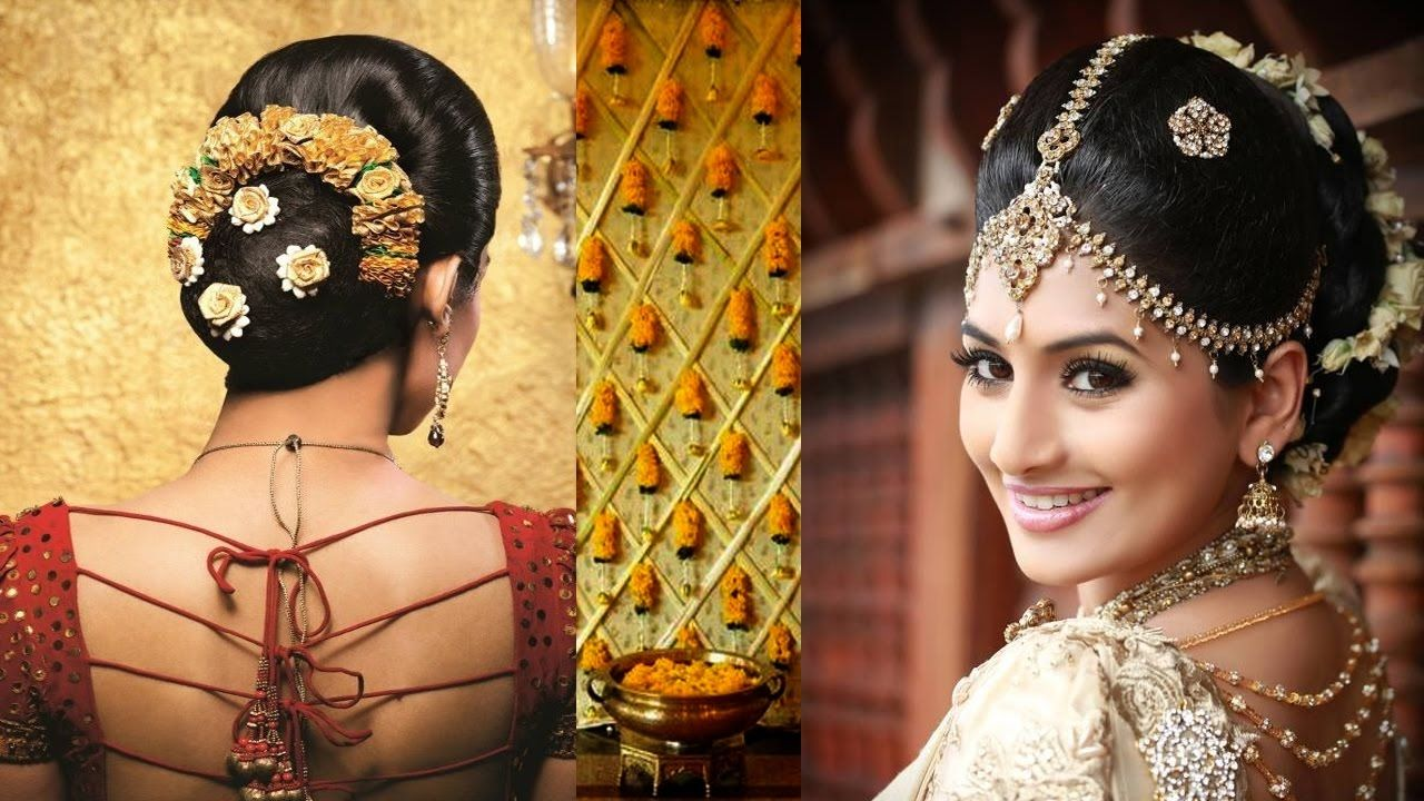 southindianbridal #makeup and #hairstyle tutorial | simple