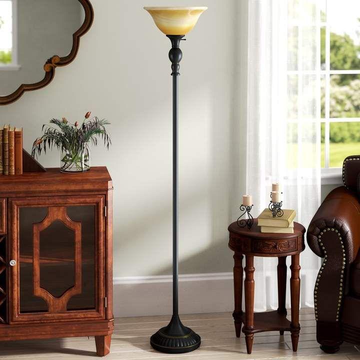 Fleur De Lis Living Arbor Oaks 71 Torchiere Floor Lamp In