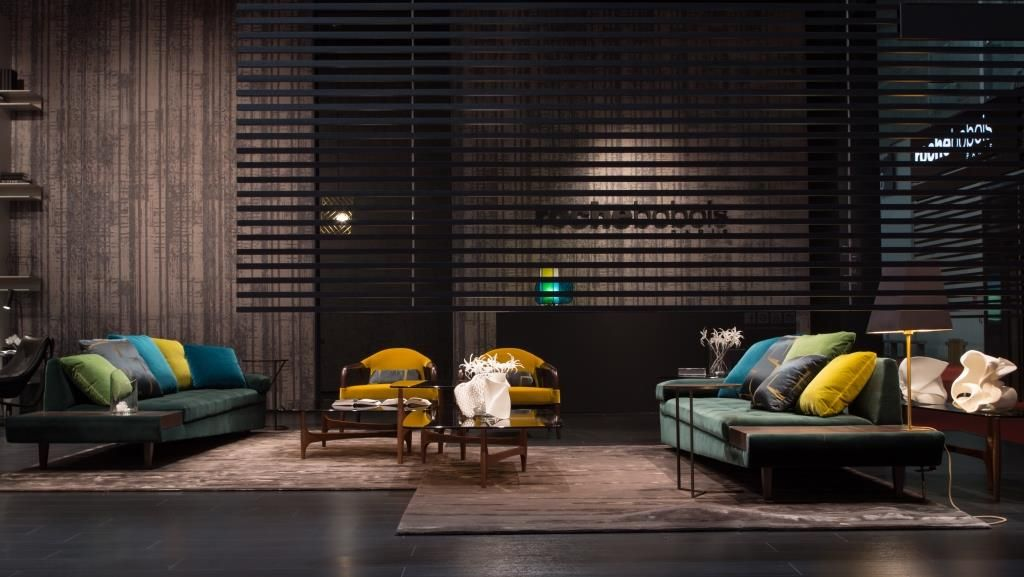 Bobois Mobili ~ Roche bobois at the salone del mobile illusion sofa designed by