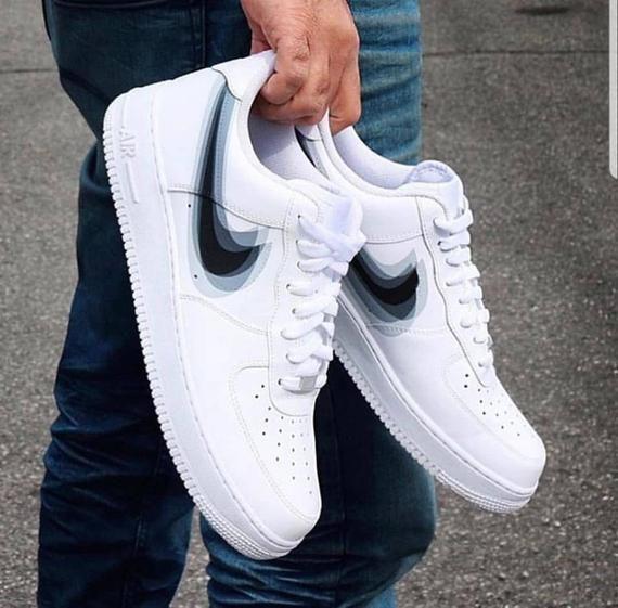 Nike Air Force 1s x Blurred Vision Nike swoosh Ce produit est ...