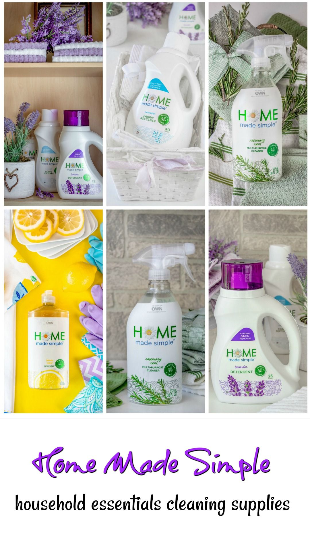 Home Made Simple Household Essentials Cleaning Supplies Home