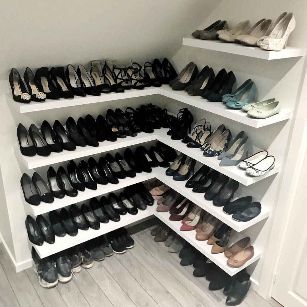 Floating Corner Shoe Shelves Shoe Shelves Shoe Shelf In Closet