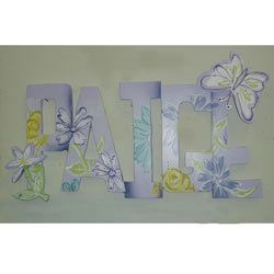 Paige Purple Butterfly Wall Letters Butterfly & Dragonfly Decor - aBaby.com