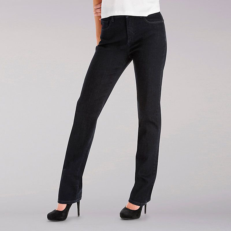 39f2b1c0 Lee Women's Instantly Slims Relaxed Fit Straight Leg Jeans - Petite (Size  18 x P)