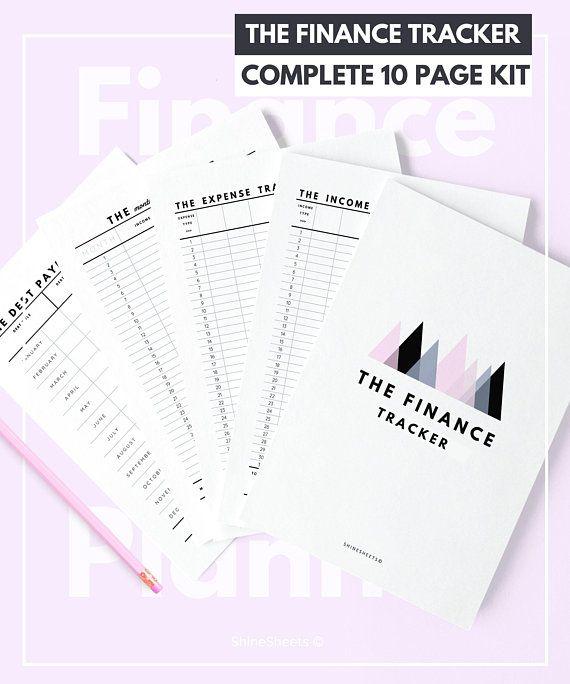 Finance Tracker Printable / Money tracker / Debt tracker / Income