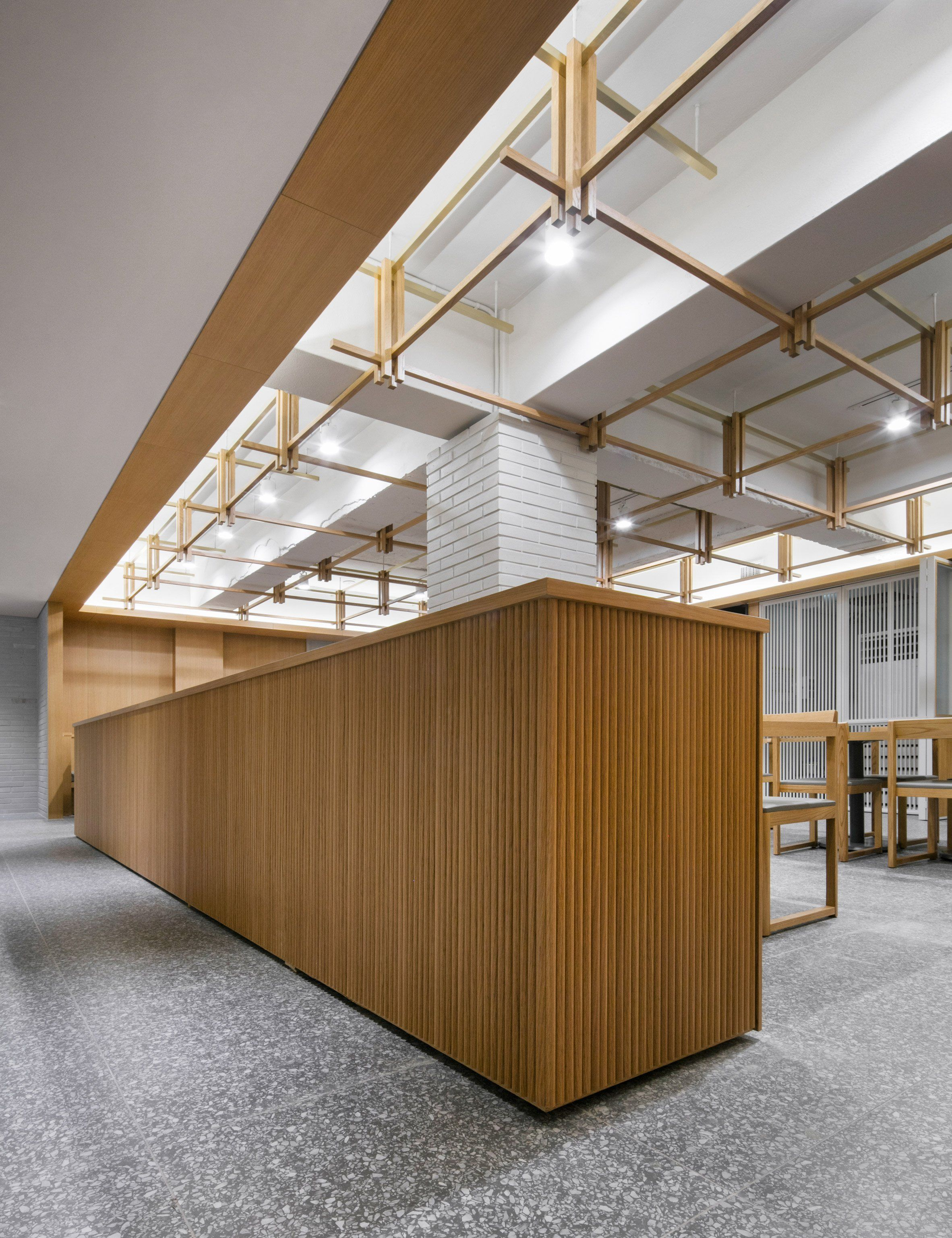 Wood Paneled Office: Wood-panelled Seoul Restaurant Interior References Owner's
