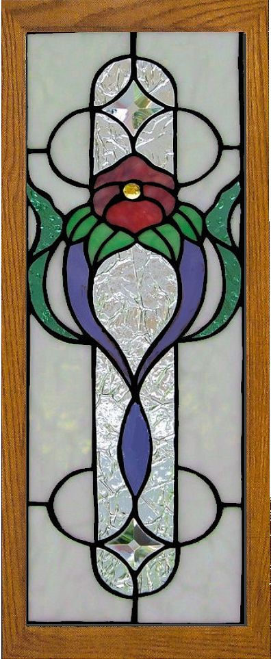Stained Glass Cabinet Insert By Aglassmenagerie Net Stained