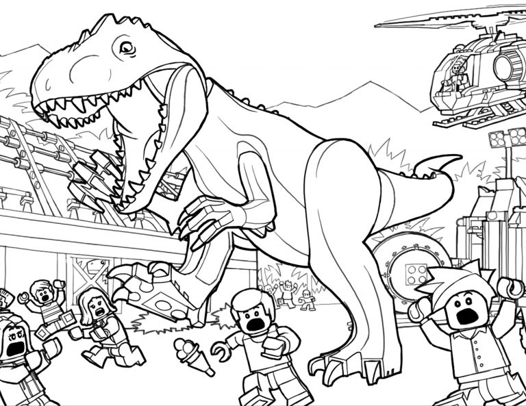 TRex Coloring Pages | Lego coloring pages, Dinosaur ...