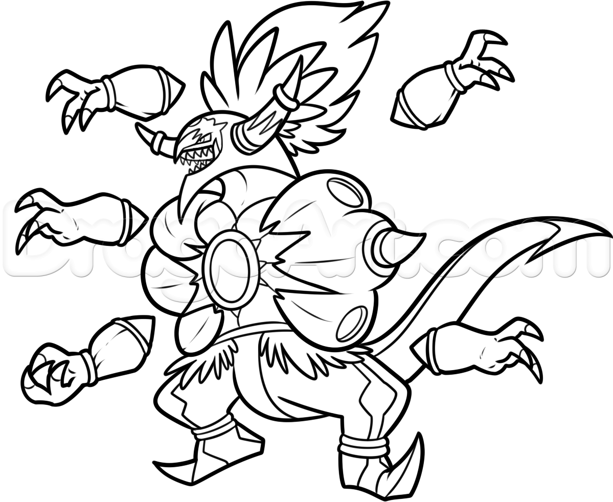 7 Images of Hoopa Pokemon Coloring