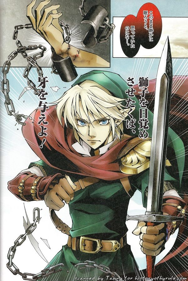Scan from the Skyward Sword Prequel Manga from Hyrule