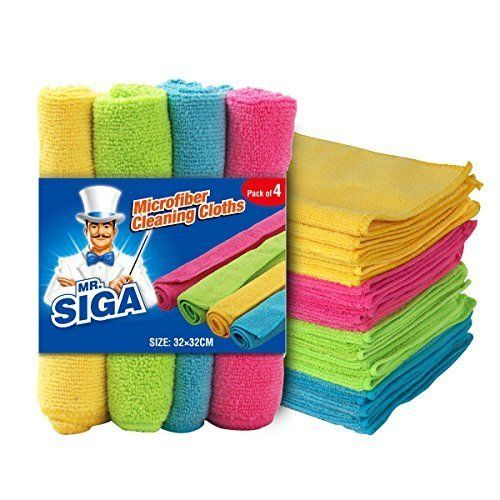 Pack of 24 MR.SIGA Microfibre Cleaning Cloth Size:12.6 x 12.6